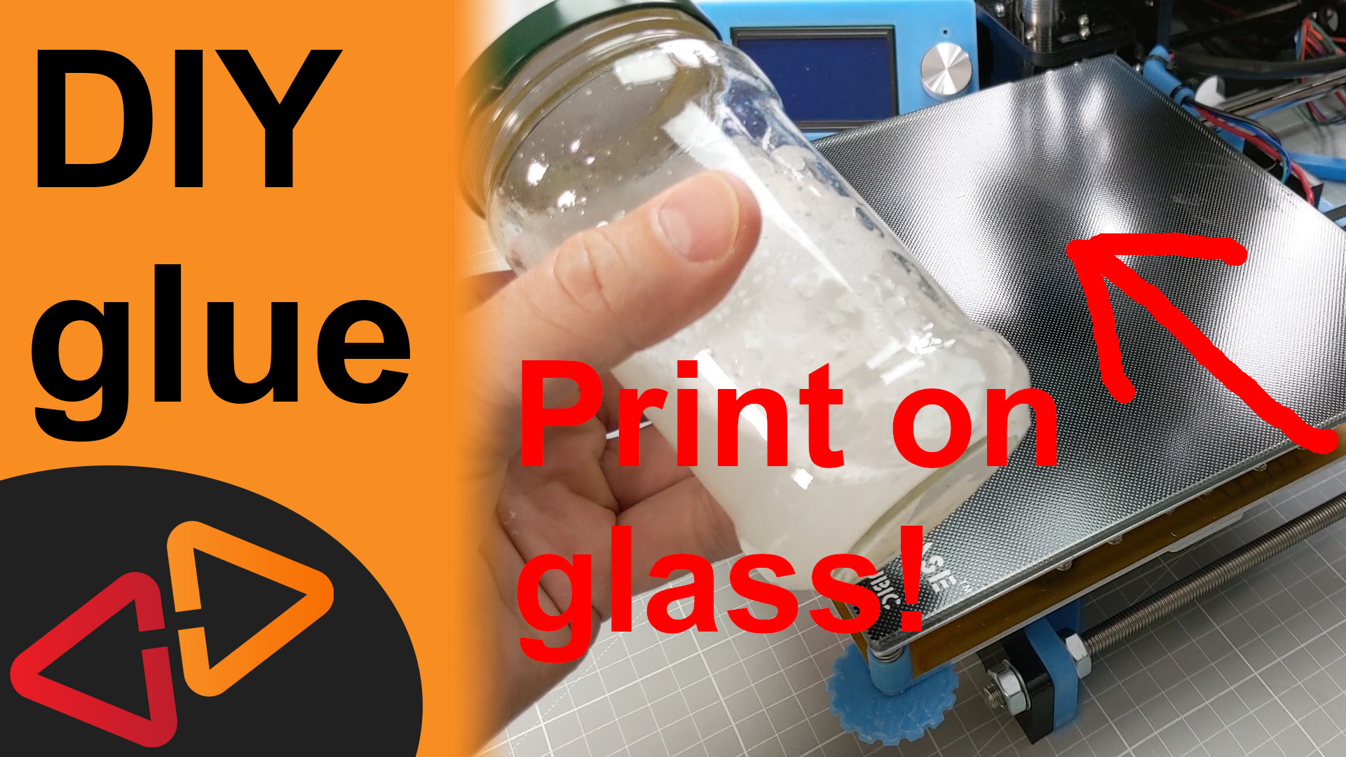 How to make 3D prints stick on glass with this homemade PVA glue